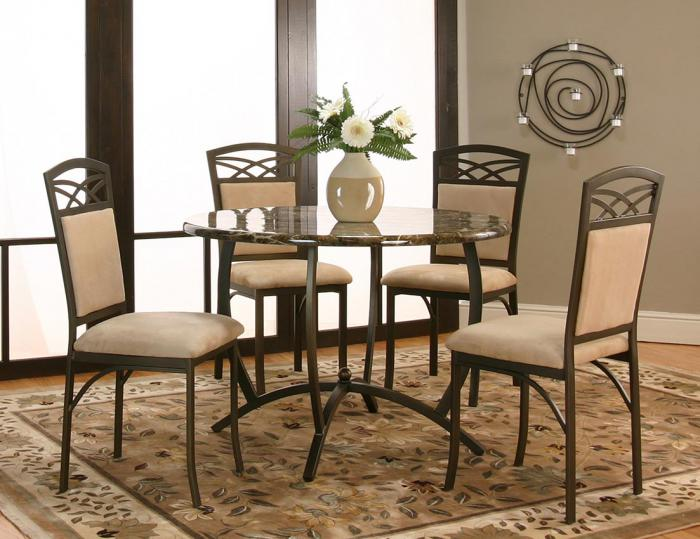 Canal 5 pc dining table and 4 chairs,Chertok's